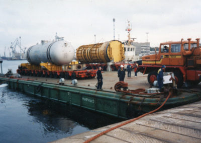 Transport of the nuclear reactor from Żarnowiec to the port of Loviisa